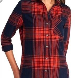 Tops - Red and black plaid shirt